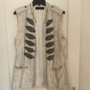 Bohemian vest with bead embroidery and